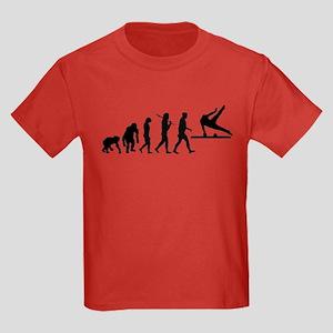 Pommel Horse Gymnastics Kids Dark T-Shirt