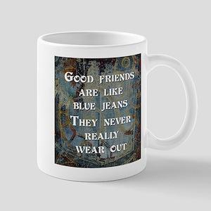 Good Friends Blue Jeans Mugs