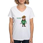 Cowboy Paddy Women's V-Neck T-Shirt
