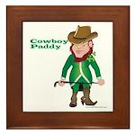 Cowboy Paddy Framed Tile