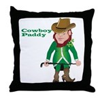 Cowboy Paddy Throw Pillow