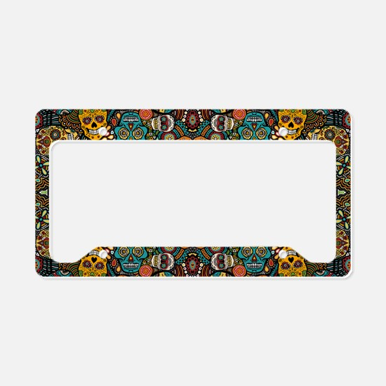 Cute Day of the dead License Plate Holder