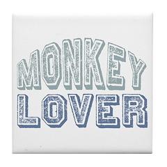 Monkey Lover Primate Zoo Animal Tile Coaster
