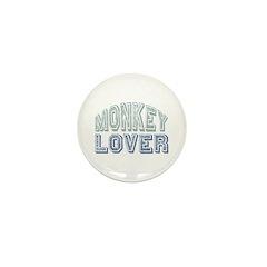 Monkey Lover Primate Zoo Animal Mini Button (100 p