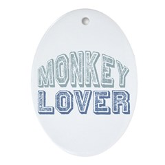 Monkey Lover Primate Zoo Animal Oval Ornament