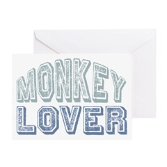 Monkey Lover Primate Zoo Animal Greeting Card