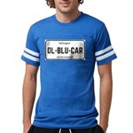 Old Blue Car Football Tee T-Shirt