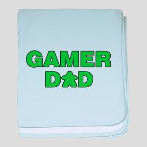 Gamer Dad Green baby blanket
