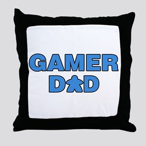 Gamer Dad Blue Throw Pillow