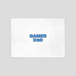 Gamer Dad Blue 5'x7'Area Rug