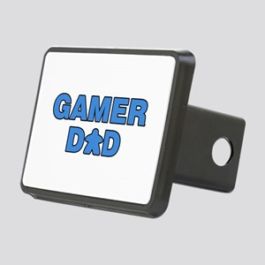 Gamer Dad Blue Rectangular Hitch Cover