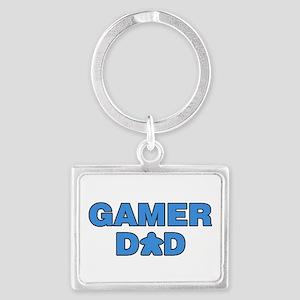 Gamer Dad Blue Keychains