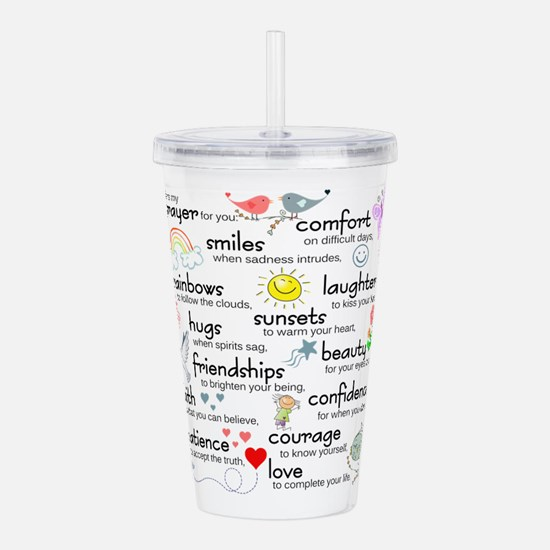 My Prayer For You Acrylic Double-wall Tumbler