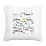 Inspirational quotes Square Canvas Pillows