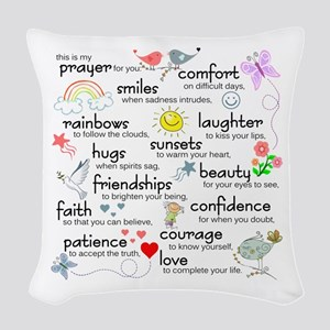 My Prayer For You Woven Throw Pillow