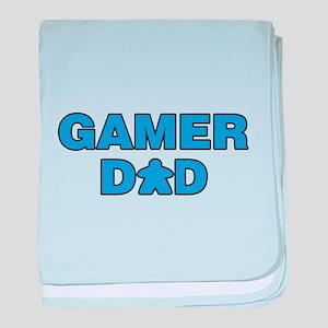 Gamer Dad Blue baby blanket