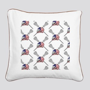 American Flag Lacrosse Helmet Pattern Square Canva