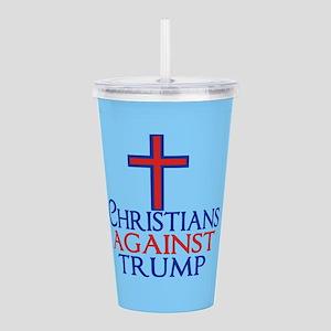 Christians Against Tru Acrylic Double-wall Tumbler