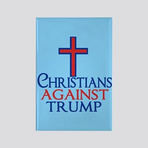 Christians Against Trump Rectangle Magnet