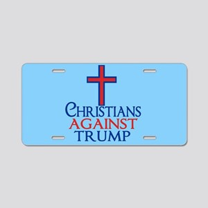 Christians Against Trump Aluminum License Plate