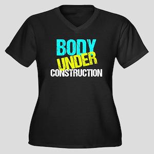 Body Under C Women's Plus Size V-Neck Dark T-Shirt