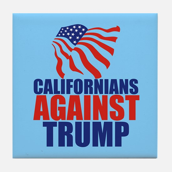 California Anti Trump Tile Coaster