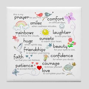 My Prayer For You Tile Coaster