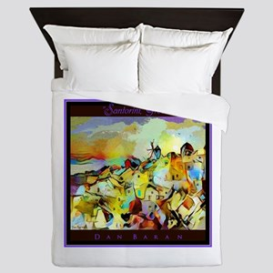 Santorini Greece Queen Duvet