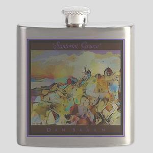 Santorini Greece Flask