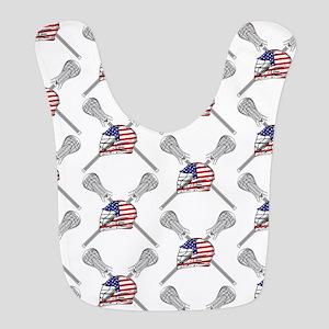 American Flag Lacrosse Helmet Pattern Bib