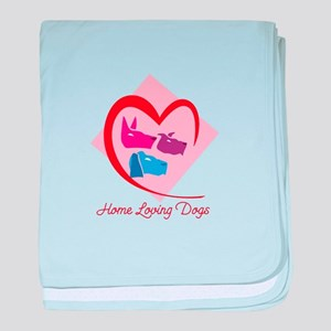 home loving dogs baby blanket