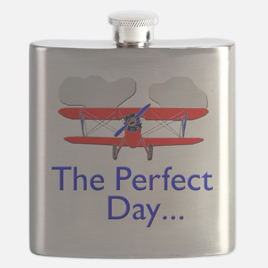 biplane airplane flying aircraft Flask