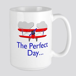 biplane airplane flying aircraft Mugs