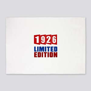 1926 Limited Edition Birthday 5'x7'Area Rug