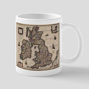 Old Map United Kingdom Mugs