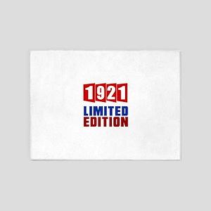 1921 Limited Edition Birthday 5'x7'Area Rug
