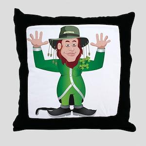 Aussie Paddy Throw Pillow