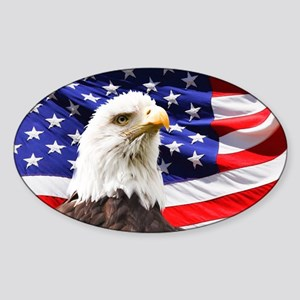 American Flag with Eagle Sticker