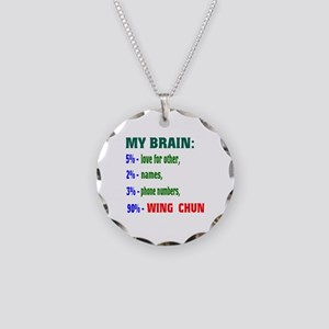 My Brain, 90% Wing Chun Necklace Circle Charm