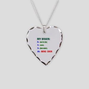 My Brain, 90% Wing Chun Necklace Heart Charm