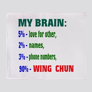 My Brain, 90% Wing Chun Throw Blanket
