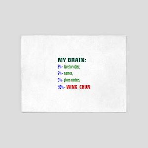 My Brain, 90% Wing Chun 5'x7'Area Rug