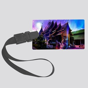 Throughout Time and Space Large Luggage Tag