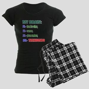 My Brain, 90% Taekwondo Women's Dark Pajamas