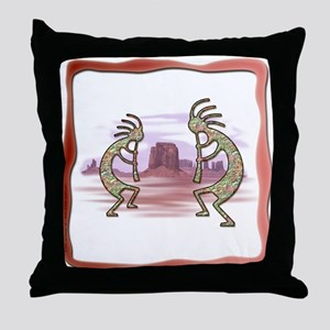 Kokopelli No.1 Throw Pillow