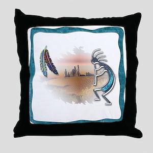 Kokopelli No.5 Throw Pillow