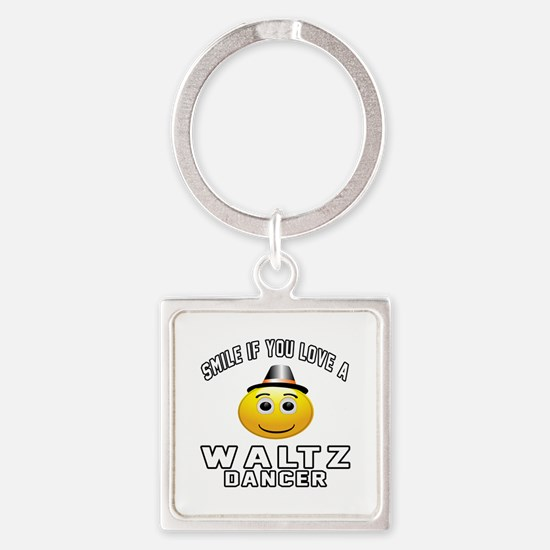 Waltz Dancer Designs Square Keychain