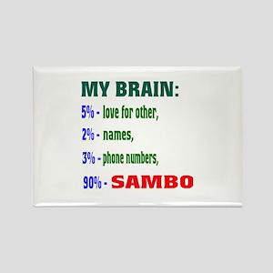 My Brain, 90% Sambo Rectangle Magnet