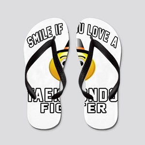 Taekwondo Fighter Designs Flip Flops