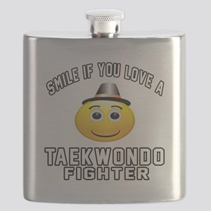 Taekwondo Fighter Designs Flask